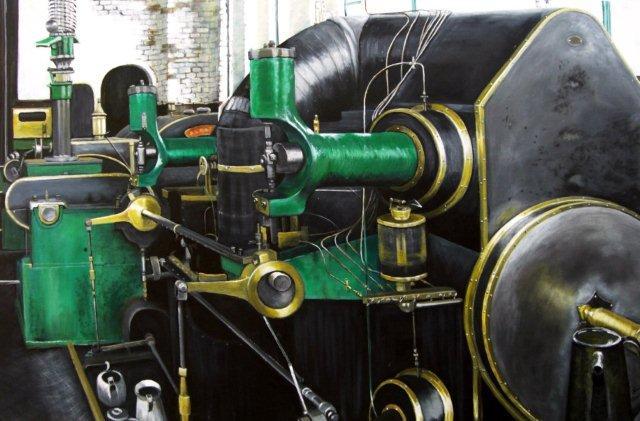Ellenroad Mill Steam Engine. Janis Bowie