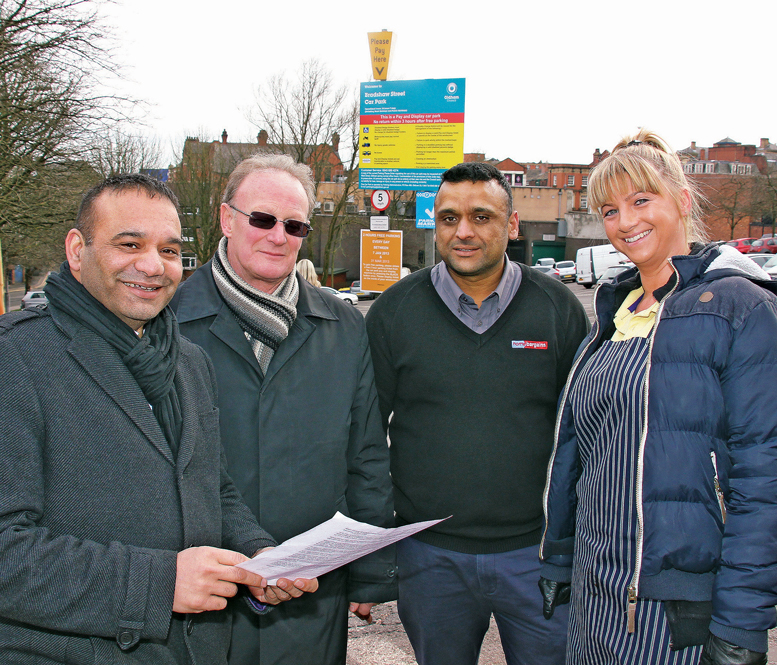 Councillor Shoab Akhtar meeting with local traders