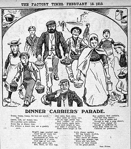 Dinner Carriers Parade by Sam Fitton
