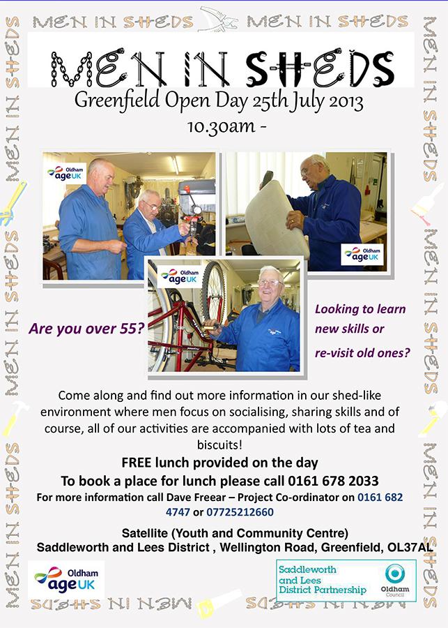 men in sheds greefield open day