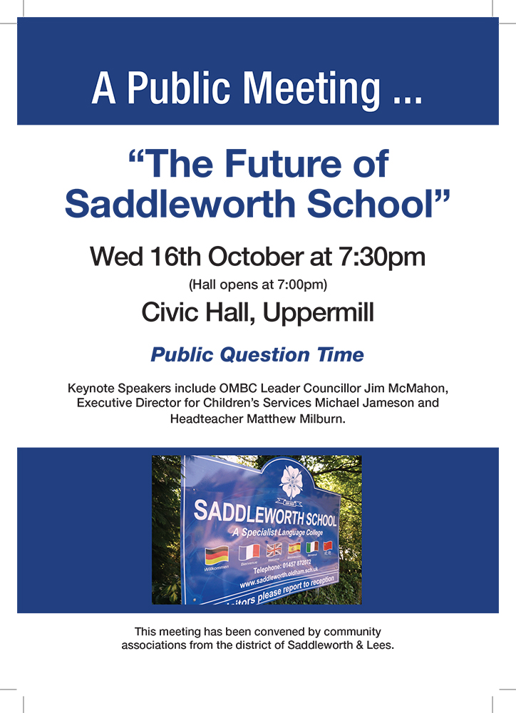 Saddleworth School flyer