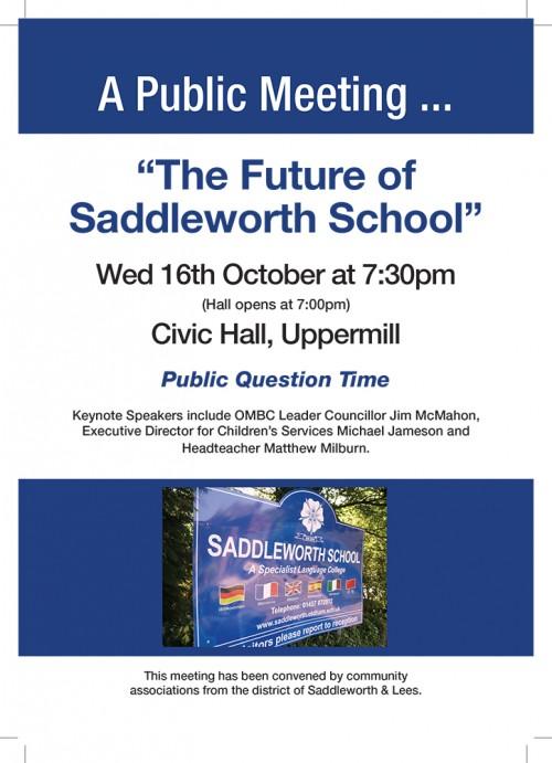 Saddleworth School flyer