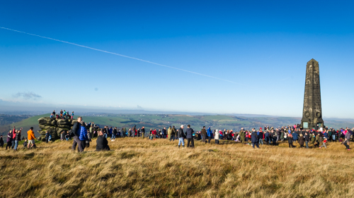 Hundreds make the climb up to Pots and Pans to remember and pay their respects