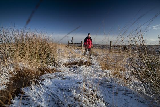 Walker on Marsden Moor