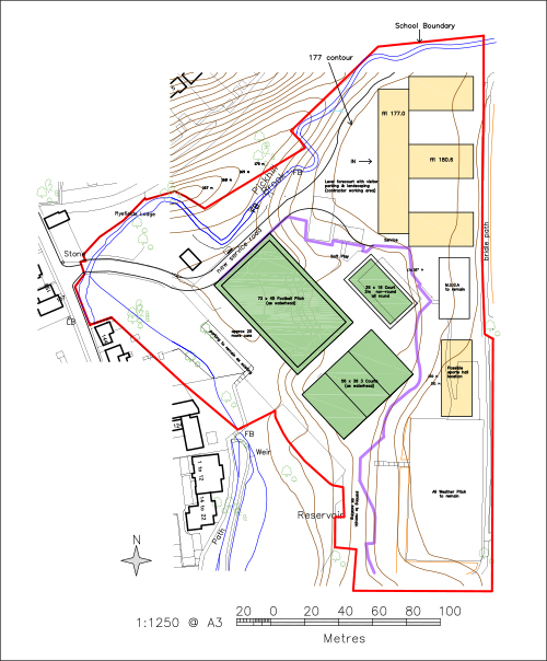 Plans for the new school in Uppermill submitted to OMBC and the EFA