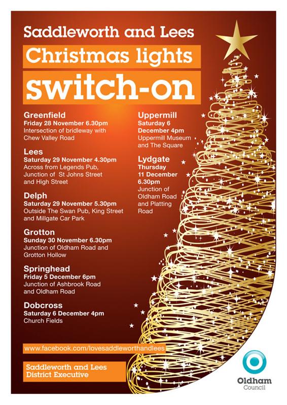 Saddleworth Christmas Lights Switch On 2014