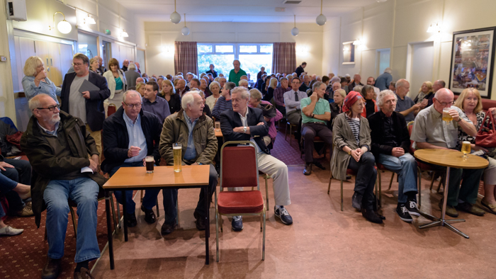 Packed room at Dobcross Band Club (Photo:©2015Stuart Coleman)