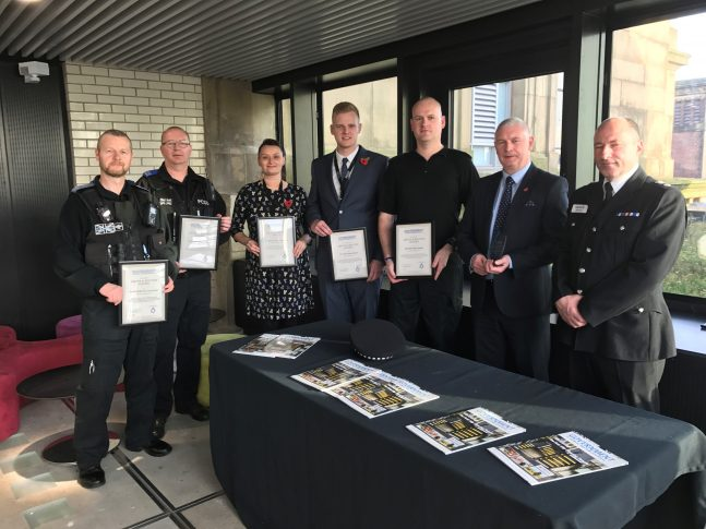 OLDHAM POLICE OFFICERS RECEIVE AWARD FOR ACTIONS 'ABOVE AND BEYOND' DUTY DURING LOCAL FLOODING